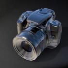 De accu van een digitale fotocamera