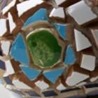 Tuinobject van mozaïek: steengoed hergebruik