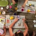 Tekenen met kinderen: batik met waskrijt en ecoline