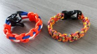 Links: leidraden, rechts: Paracord